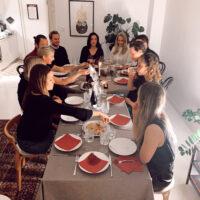 Ensimmäisellä Thanksgiving -illallisella